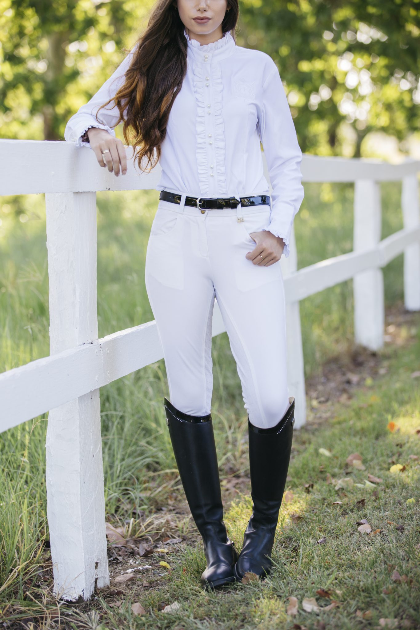 Ladies High Waisted Quot White Quot Breeches