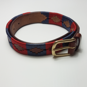 Red and navy polo belt