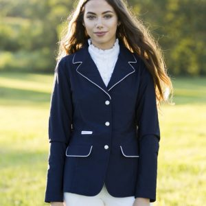 Navy Jacket with White Piping - No Logo