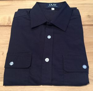 Ladies Dust Collection Work Shirt Navy