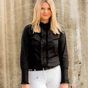 Ladies Black Frill Shirt
