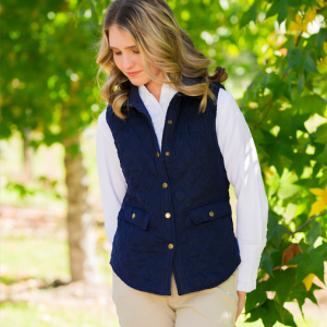 ladies navy vest